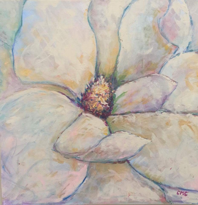 Magnolia painting by Crystal Collins