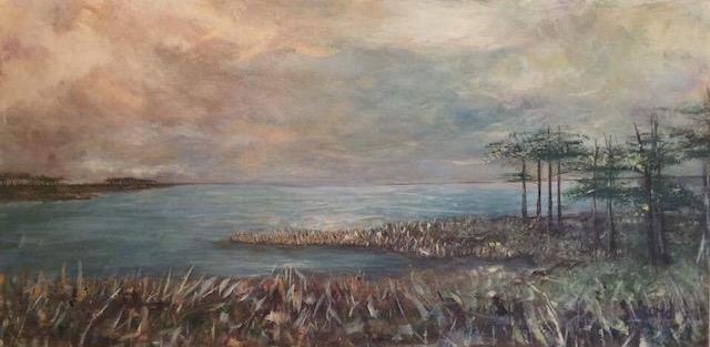 Eastern Shore Virginia Marsh painting